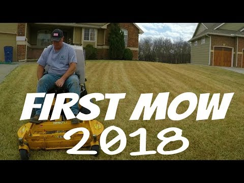Mowing New Clients Lawn, Landscape Makeover , Lawn Care Vlog #2