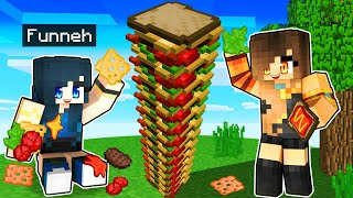 Making the TALLEST Sandwich in Minecraft!