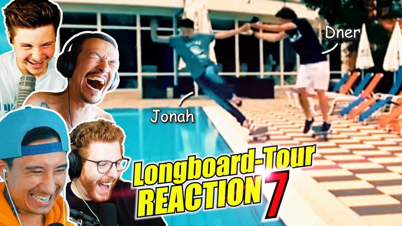 Von Auto ÜBERFAHREN kurz vor ZIEL | JU x UNGE x CHENG x DNER Longboard Tour Reaction 7
