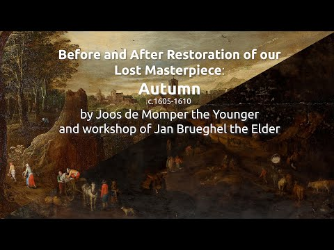 Before and After Restoration of our Lost Masterpiece: Autumn
