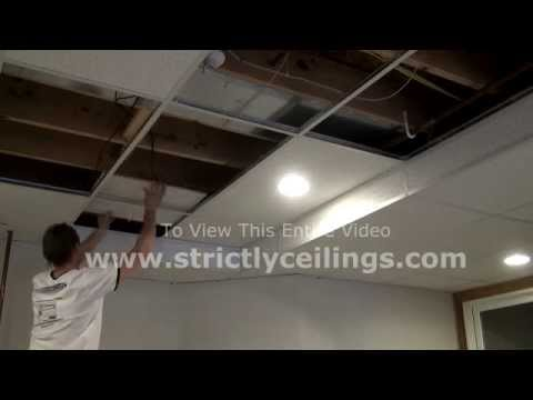 How To Build Basic Suspended Ceiling Drops In A Basement
