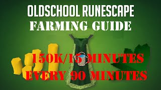 Profitable Farming Guide: 100-150K/15 minutes Every 90 Minutes Oldschool Runescape (OSRS)