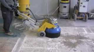 """KLİNDEX HERCULES 450 : """"DCS Sistemli"""" mermer, granit, mozaik, beton silim ve cilalama makinesi. Video"""