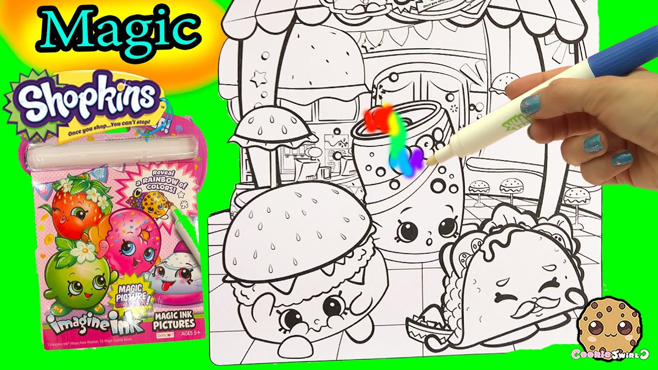 Shopkins Imagine Ink Rainbow Color Pen Disney Princess Surprise Pictures Books