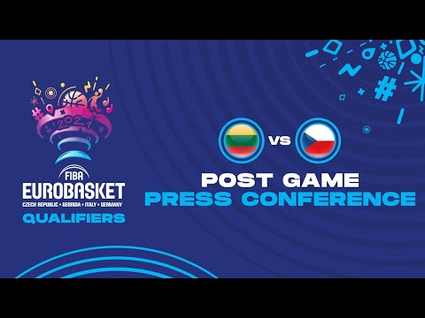 Lithuania v Czech Republic - Press Conference - FIBA EuroBasket Qualifiers 2021