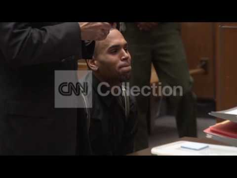 CA:CHRIS BROWN IN COURT FOR PROBATION HEARING