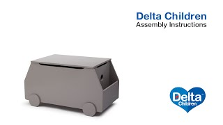 Delta Children Toy Box with Book Storage Assembly Video
