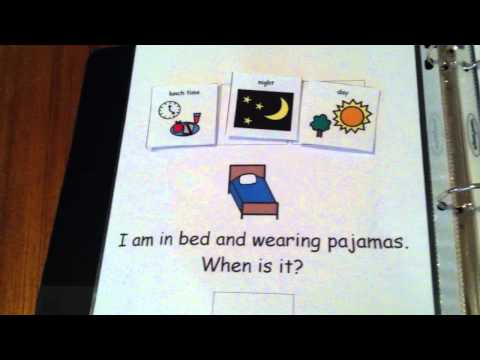 Video Tutorial Of When Is It? Adapted Book For Children With Autism