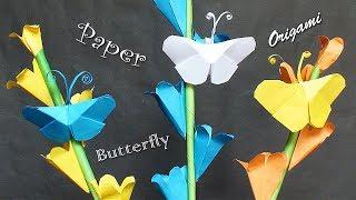 Easy Paper Butterfly Origami - DIY Paper Crafts Butterfly - Simple Crafts - কাগজের প্রজাপতি বানানো