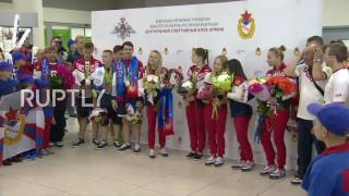 Russia: Olympic athletes received in Moscow with warm welcome
