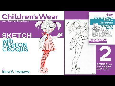 Sketching fashion design project for children's wear with Children's Wear Fashion Illustration