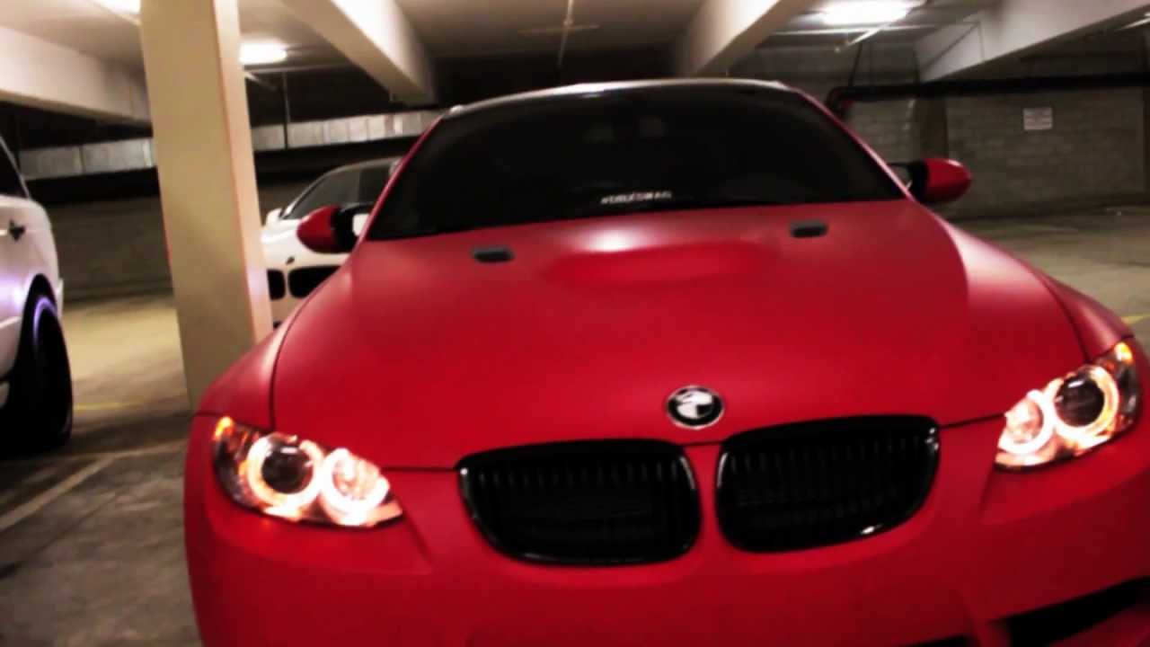 Project Bmw M3 E92 Wrapped In Ultra Matte Red By Dbx