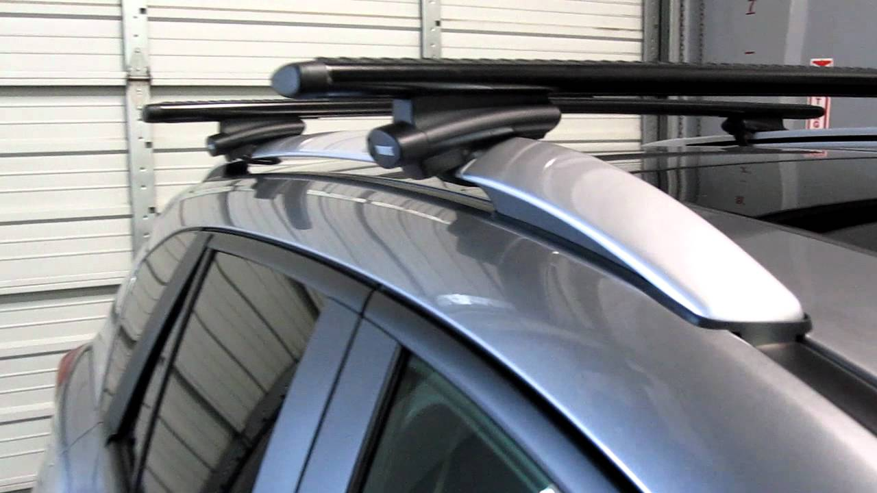 2013 Mazda CX 5 With Thule 450R Crossroad AeroBlade Base Roof Rack By Rack  Outfitters   YouTube