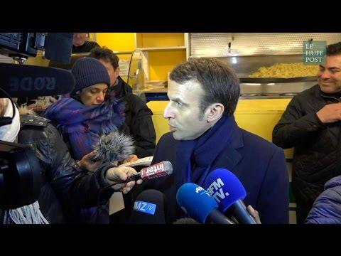 """À Hénin-Beaumont, Macron s'adresse aux électeurs FN : """"Vous suivez un parti qui vous ment"""""""