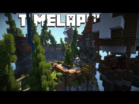 BUILDING THE CENTER OF THE MEGA SKYBLOCK ISLAND!! (Minecraft #2)