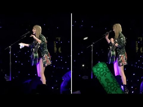 Taylor Swift tosses used tissue into crowd at concert in Auckland, New Zealand | Newshub