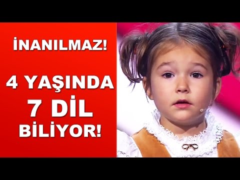 İNANILMAZ - 4 YAŞINDA TAM 7 DİL BİLİYOR - BELLA