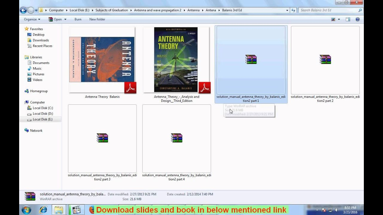 Balanis solutions manual 2rd edition image of page 2 array antenna theory balanis book and solutions manual download youtube rh youtube com fandeluxe Choice Image