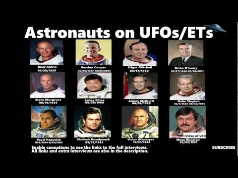 The 12 astronauts who have said that they have seen a UFO (links to the full interviews)