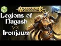 Legions of Nagash vs Ironjawz Age of Sigmar Battle Report - War of the Realms Ep 224