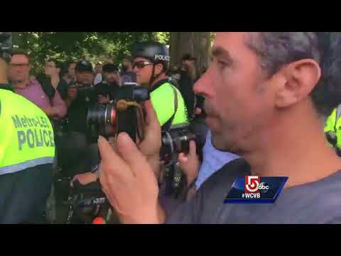 Expletive-filled chants on Boston Common