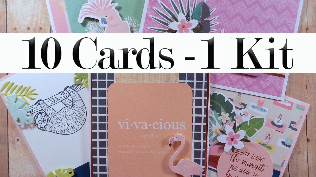 10 Cards | 1 Kit – Spellbinders August 2019 Card Kit (Part 2 of 2)