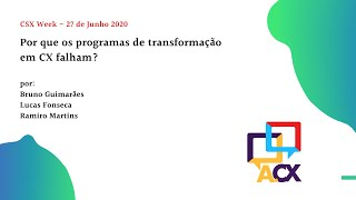 Palestra CXS Week 2020