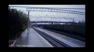 Железнодорожный мост рухнул на пути в г. Свободный, придавив автотранспорт и человека