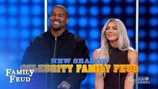 Kim & Kanye Vs The Kardashians! | Celebrity Family Feud