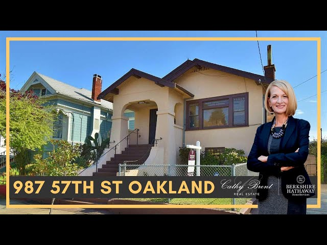 987 57th St Oakland, CA 94608 | Cathy Brent Real Estate