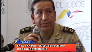 En el cantón Peliléo se registró un caso de femicidio
