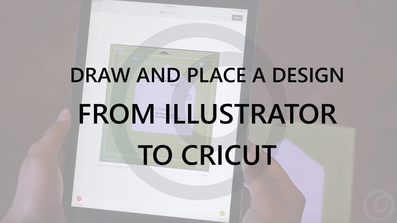 How to draw and place a design from Illustrator into Cricut Design Space