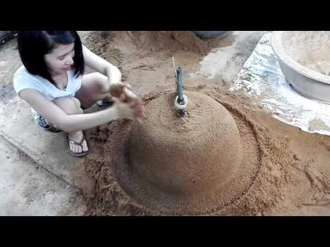 Bonsai cây kiểng | Yii Yii làm ụ cát quay chậu kiểng - VID 20160719 150927