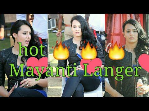 | Most hot 🔥 and sexy 😍 Indian cricket anchor Mayanti Langer | Stuart Binny wife 🔥🔥 thumbnail