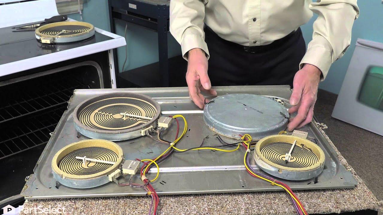 Range Repair   Replacing The Large Surface Element (Whirlpool Part #  8523692)