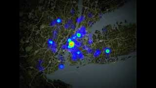 Heatmap of Spread of Disease in New York City