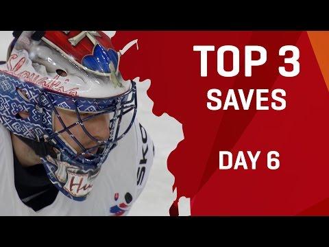 Top 3 Saves - Day 6 - #IIHFWorlds 2017 - 동영상