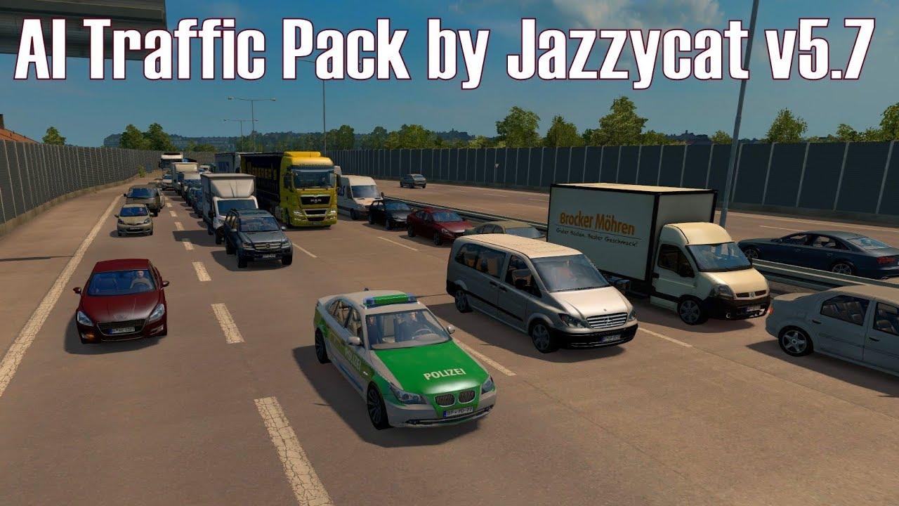 ETS2 v1 28 I Mod ★ AI Traffic Pack by Jazzycat v5 7 [Deutsch/HD]