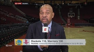 Michael Wilbon says Houston Rockets should believe they can play with Golden State Warriors | ESPN