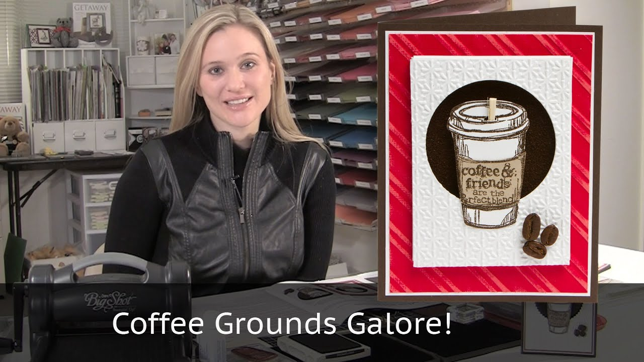 Youtube Making Cards Videos Part - 17: Coffee Cup Card Using Real Coffee Grounds