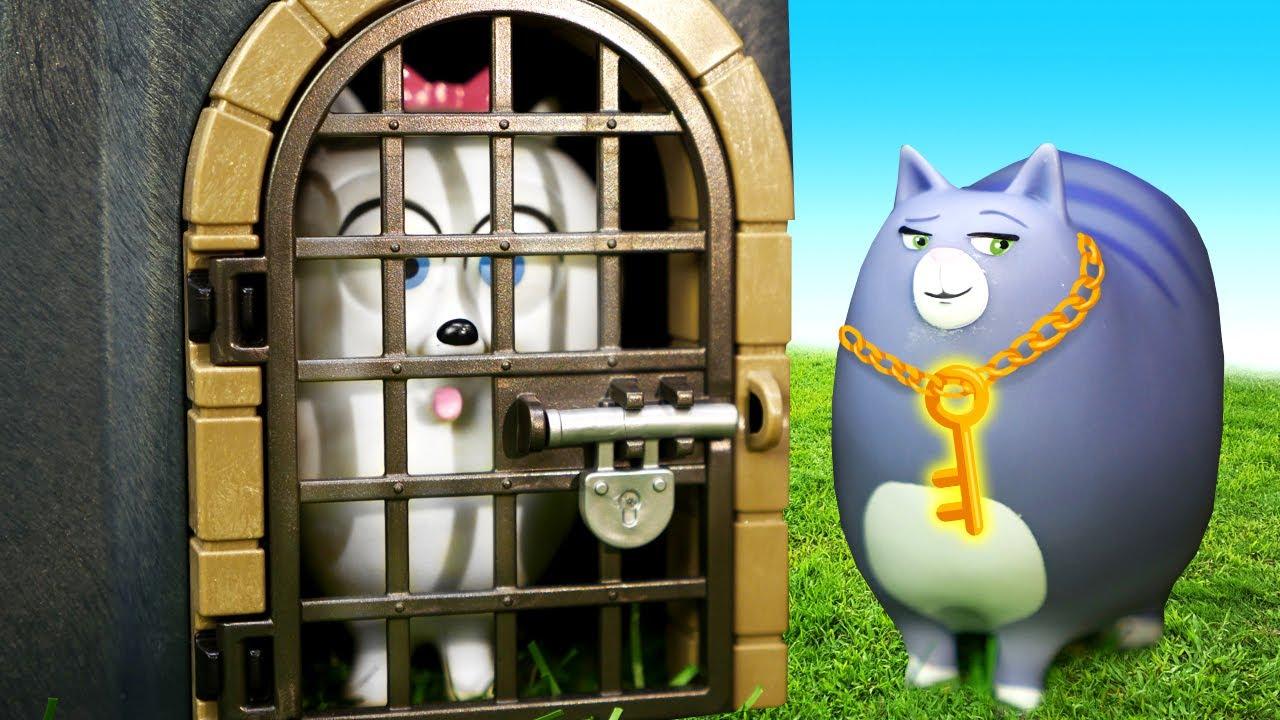Игрушки для детей измультика Тайная жизнь домашних животных. Макс иГиджет идут последам Дюка