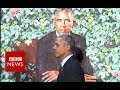 Obama's portrait unveiled - BBC News