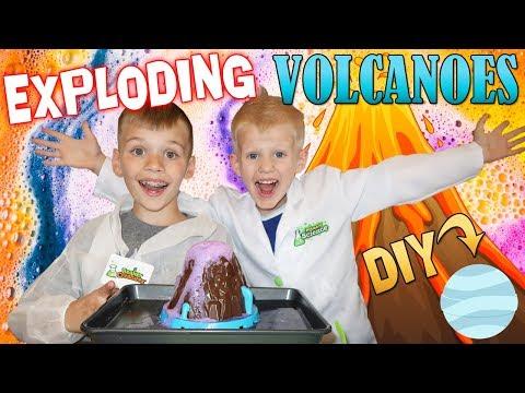 Make Slime & Huge  Volcano Experiment!! Beaker Creatures Science Lab