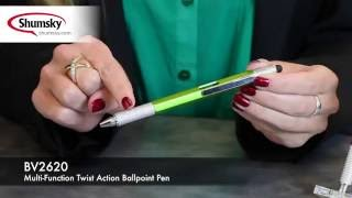 Multi-Function Twist Action Ballpoint Pen - BV2620