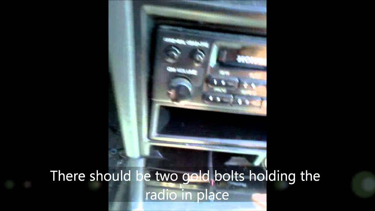 How To Remove The Radio Of A 1991 Honda Accord