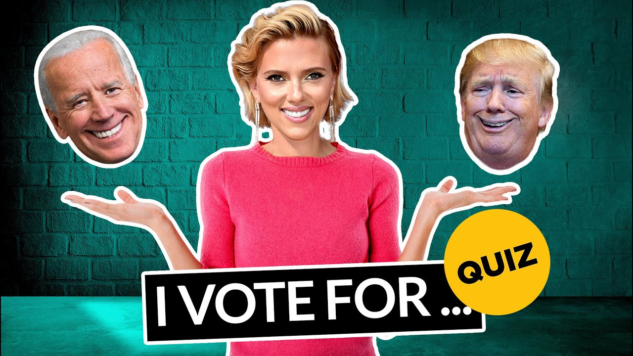 How To Celebrities Vote? trump or Biden 2020, amazing quiz