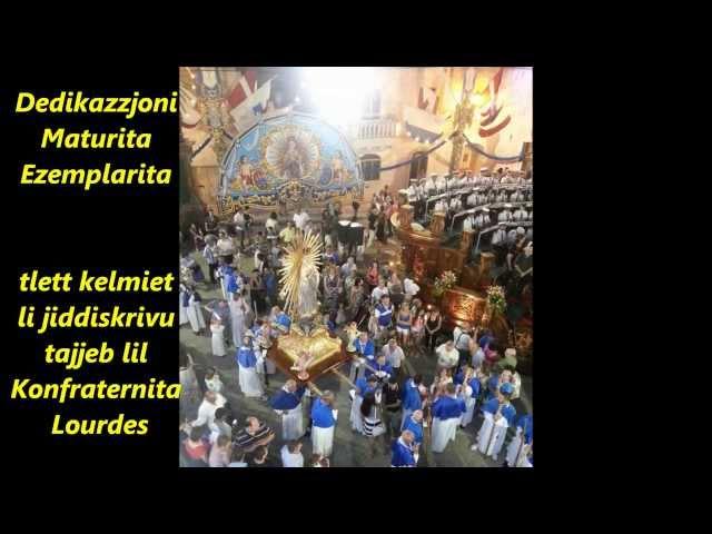 Ta Lourdes (Tal-Qrendi) fRuma - Sena tal-Fidi 2013