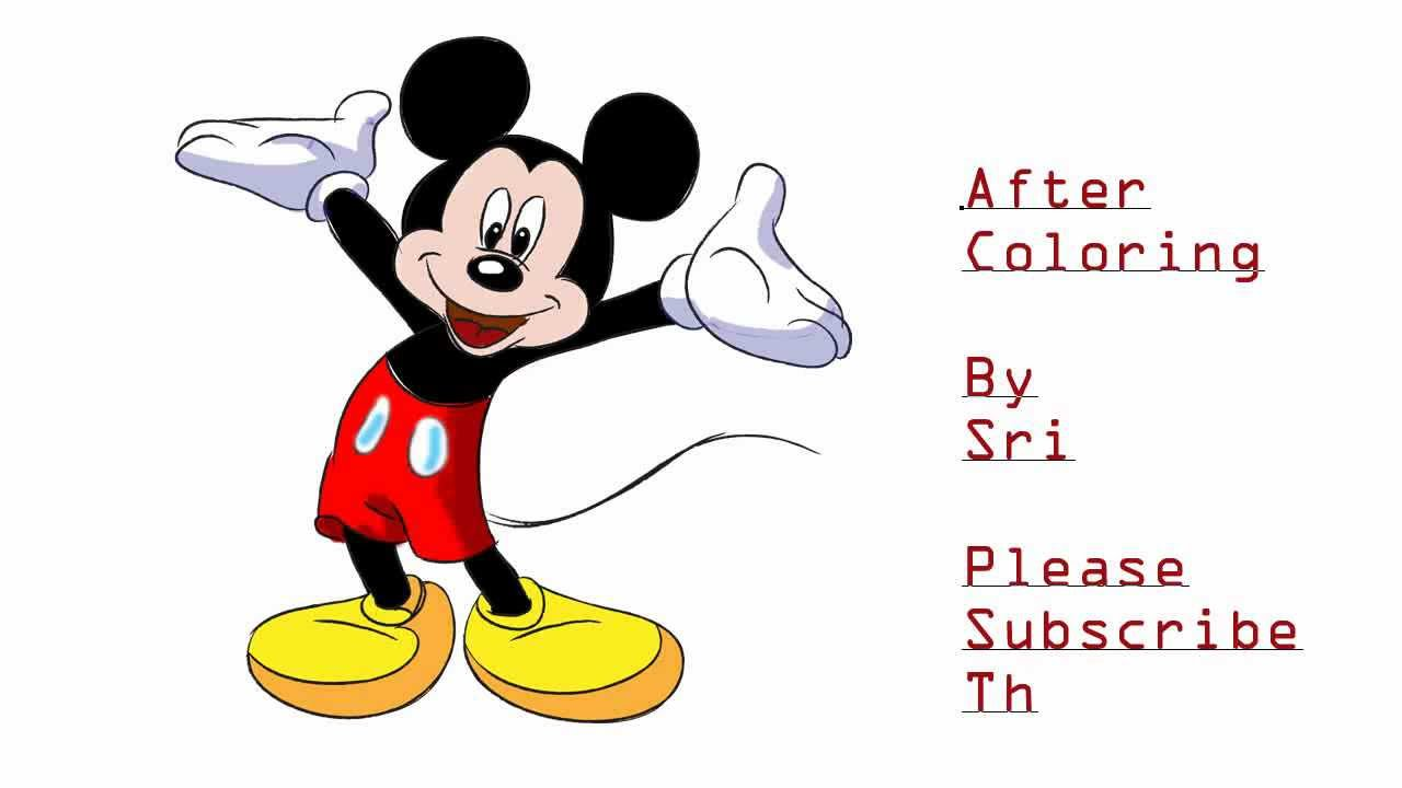 How To Draw Mickey Mouse Tutorial Drawing And Coloring Tutorial Hd