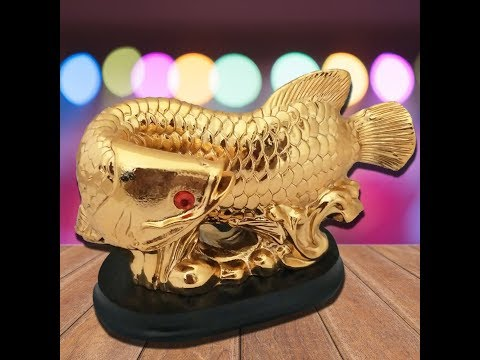 Feng Shui Arowana Fish Home Decor Gift Items For Good Luck