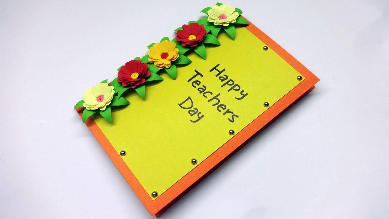 diy teacher's day card  happy teachers day  handmade